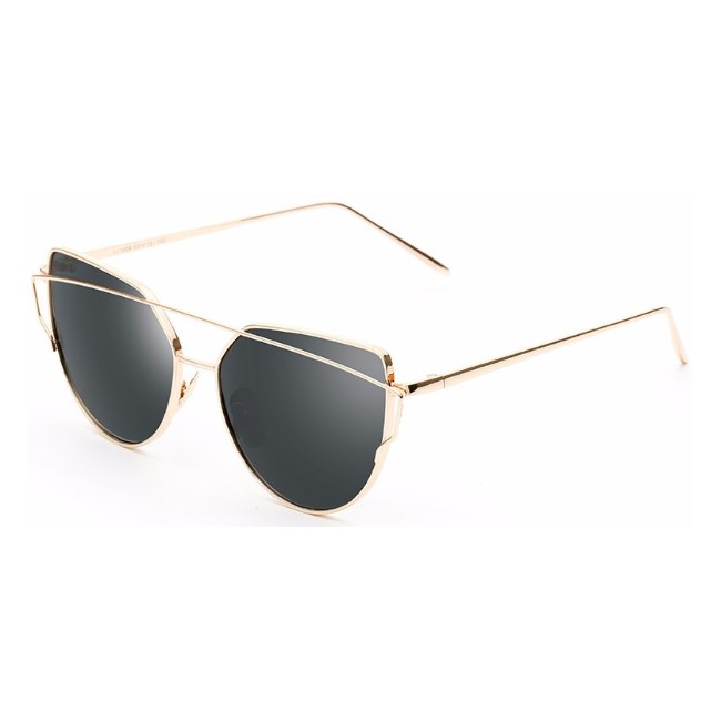 "Cat eye zonnebril ""Bow"" - Zwart/Goud"
