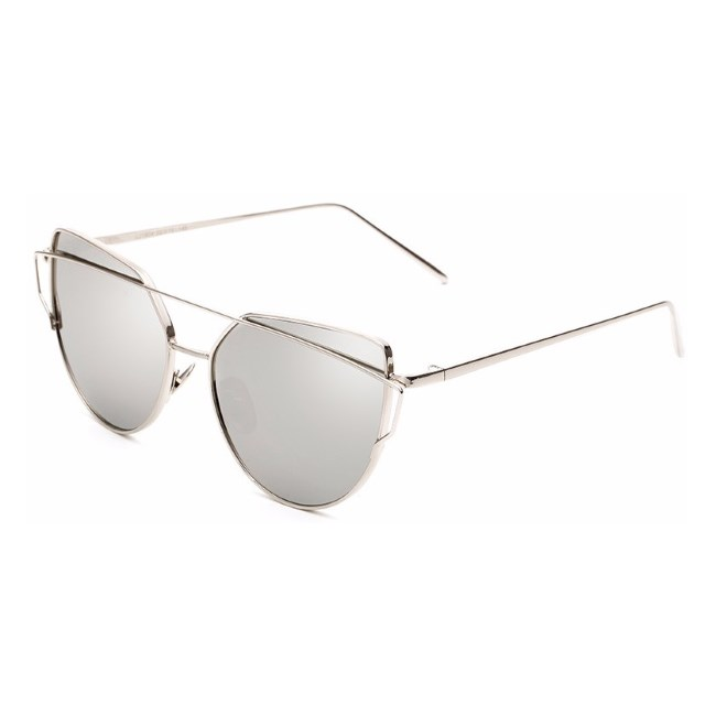 "Cat eye zonnebril ""Bow"" - Zilver"