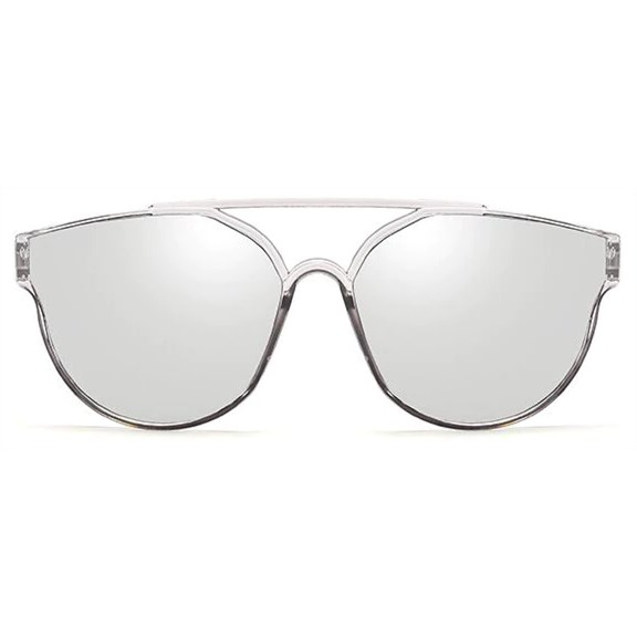 "Cat eye zonnebril ""Bridge"" - Zilver"
