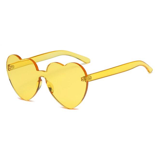 Candy zonnebril Hartjes - Geel