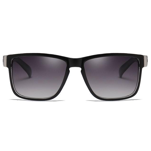 Luxe Wayfarer zonnebril - Zwart/zebra Gepolariseerd