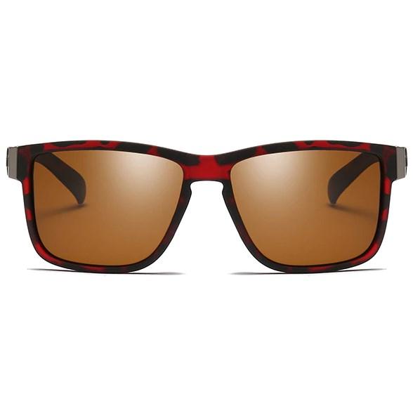 Luxe Wayfarer zonnebril - Bruin Gepolariseerd