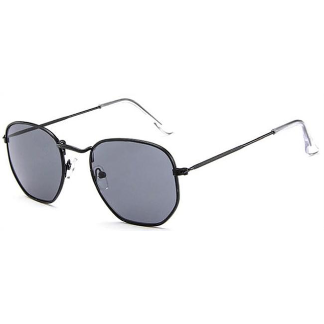 Hexagonal flat zonnebril - Zwart