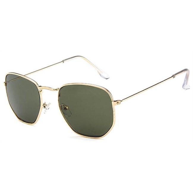 Hexagonal zonnebril - Groen