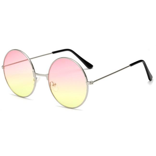 Hippie zonnebril - Roze/Geel