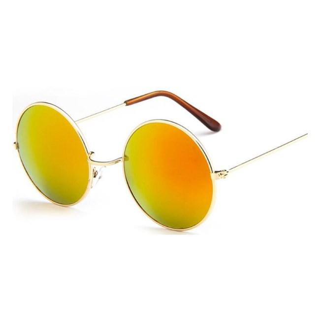 Ronde zonnebril spiegelglazen - Oranje