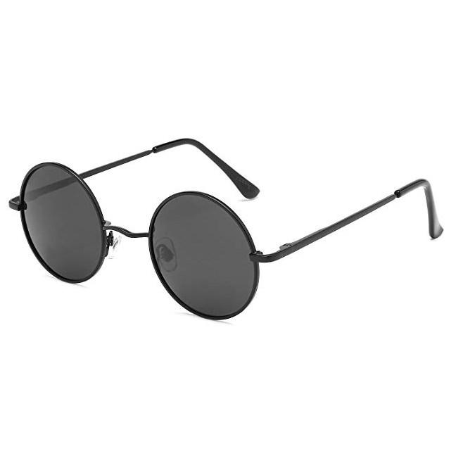 John Lennon ronde zonnebril - Zwart Gepolariseerd