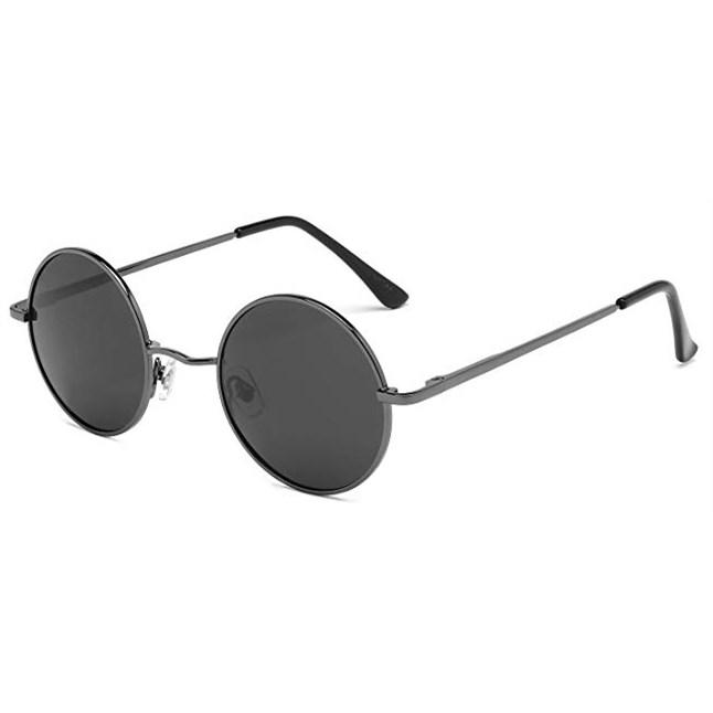 John Lennon ronde zonnebril - Grijs Gepolariseerd