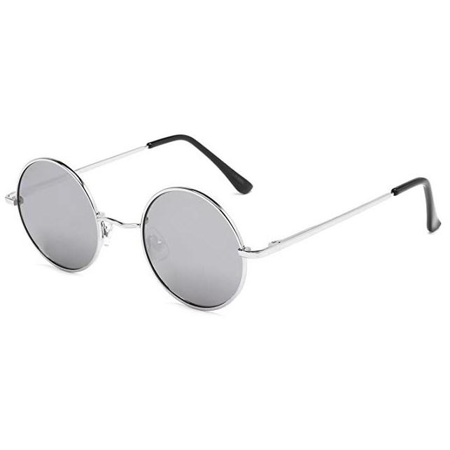 John Lennon ronde zonnebril - Zilver Gepolariseerd