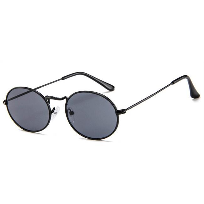 Oval flat lenses zonnebril - Zwart