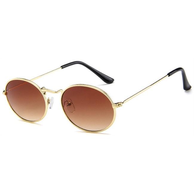 Oval flat lenses zonnebril - Bruin