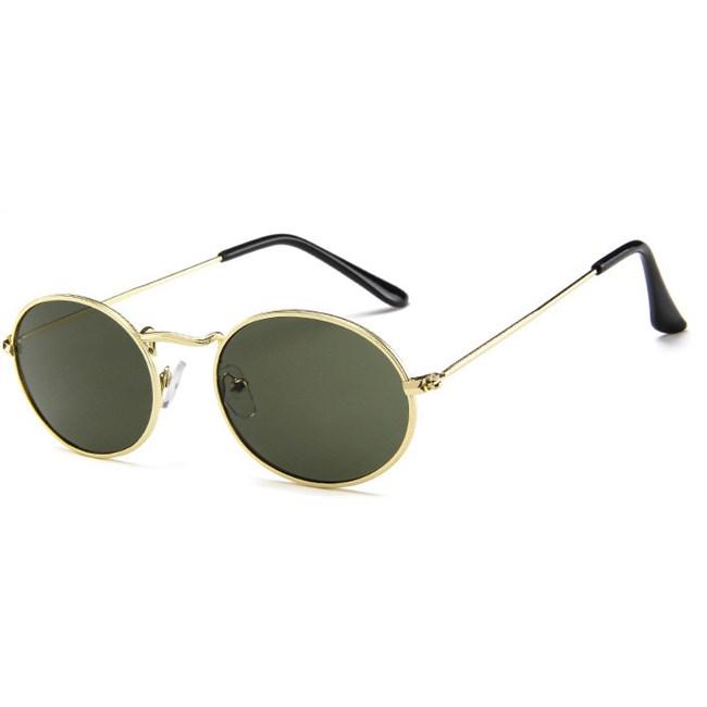 Oval flat lenses zonnebril - Groen