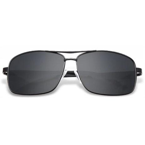 "Retro zonnebril ""Reddington"" - Zwart Gepolariseerd"