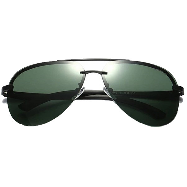 Randloze aviator zonnebril - Groen Gepolariseerd