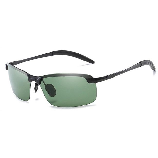 Semi-randloze zonnebril - Groen Gepolariseerd