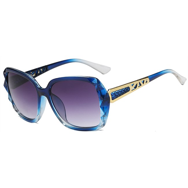 Square zonnebril - Blauw