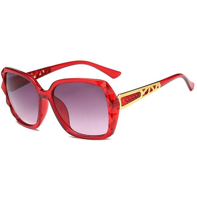 Square zonnebril - Rood