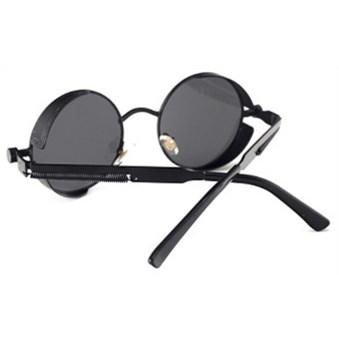 Ronde Steampunk zonnebril - Zwart