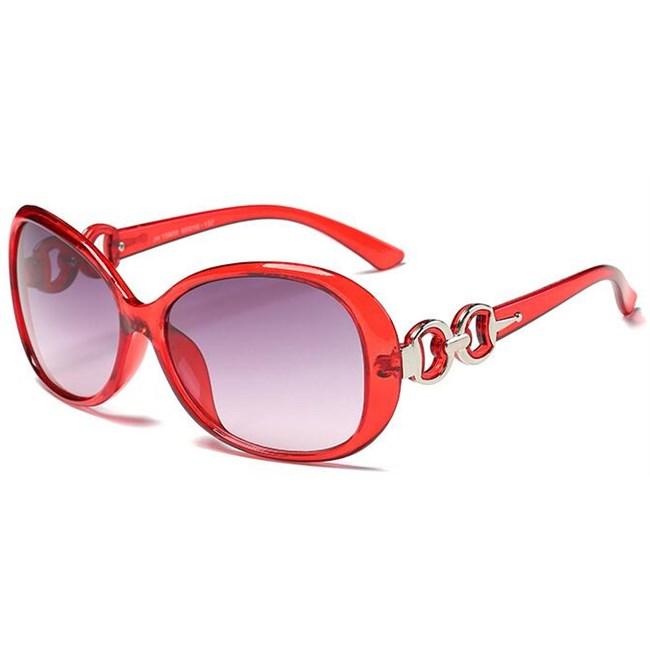 Vintage ovale zonnebril - Rood