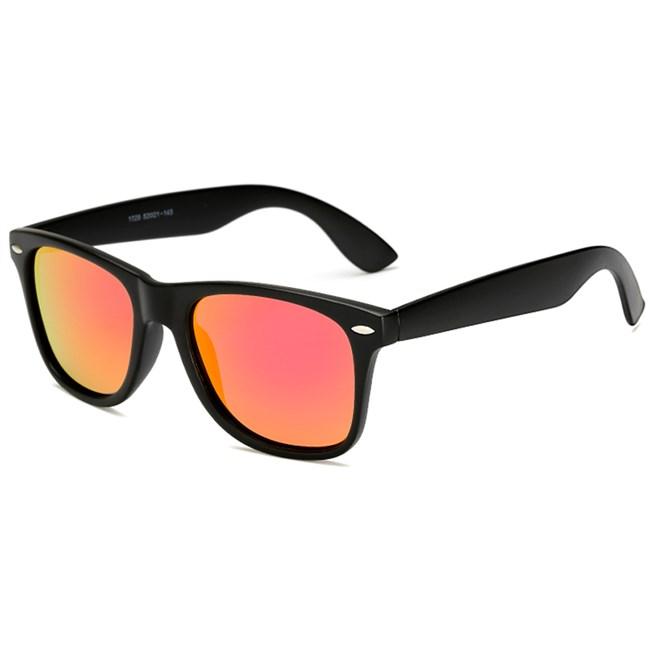 Wayfarer zonnebril spiegelglazen - Rood Gepolariseerd