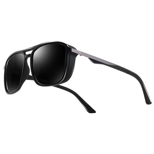 """Heren zonnebril """"Windy"""" - Zwart Gepolariseerd"""
