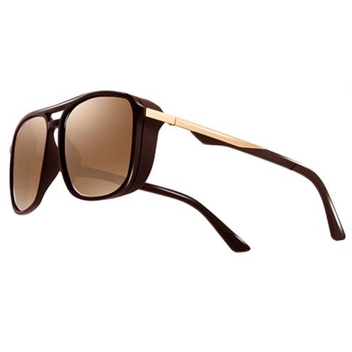 """Heren zonnebril """"Windy"""" - Bruin Gepolariseerd"""
