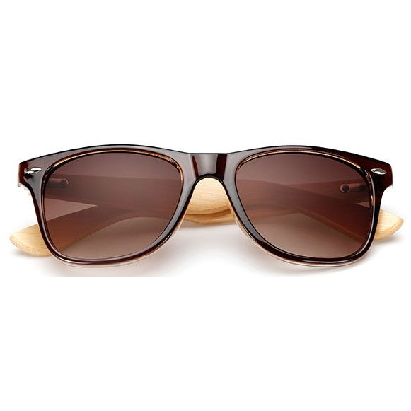 "Wayfarer zonnebril ""Woody"" - Bruin"