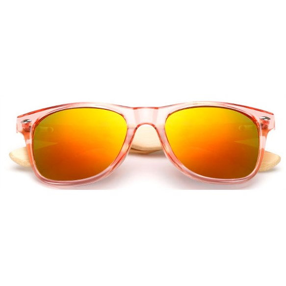 "Roze Wayfarer zonnebril ""Woody"" - Oranje"