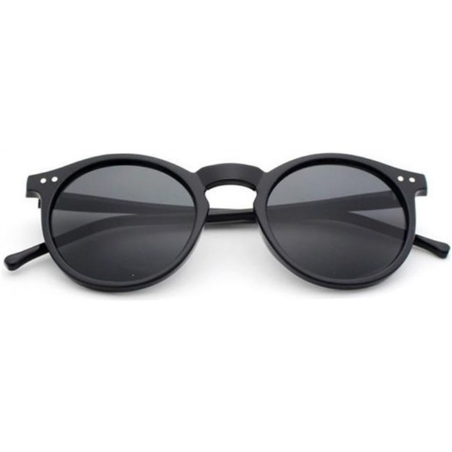 "Ronde zonnebril ""Ben"" Retro - Zwart"