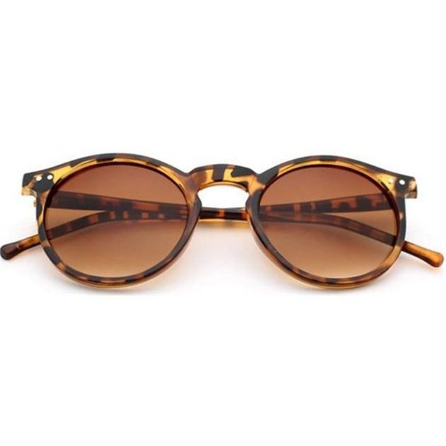 """Ronde zonnebril """"Ben"""" Retro - Leopard"""