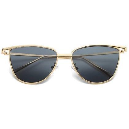 "Cat eye zonnebril ""Brooklyn"" - Zwart/Goud"