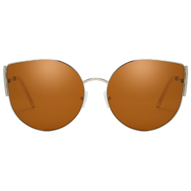 "Cat-eye zonnebril ""Metal"" - Bruin"