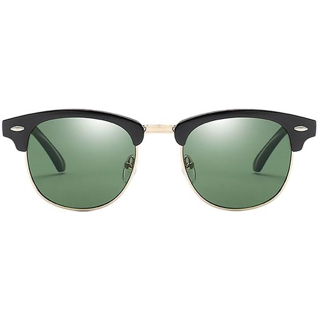 Clubmaster zonnebril - Groen/Zwart Gepolariseerd