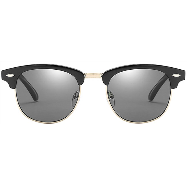 Clubmaster zonnebril - Zwart Gepolariseerd
