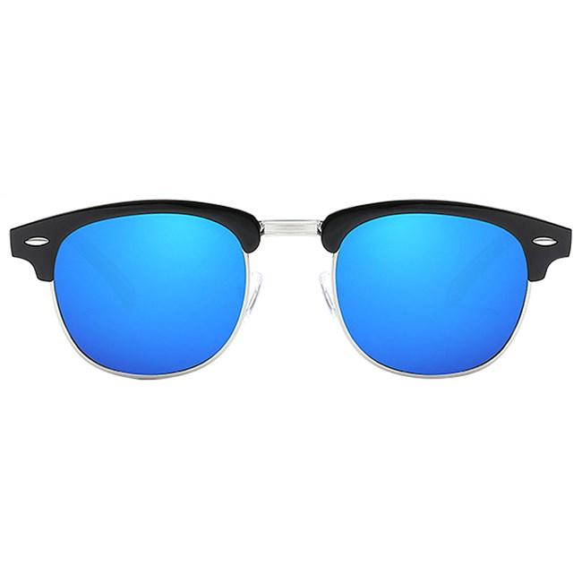 Clubmaster zonnebril spiegelglazen - Blauw