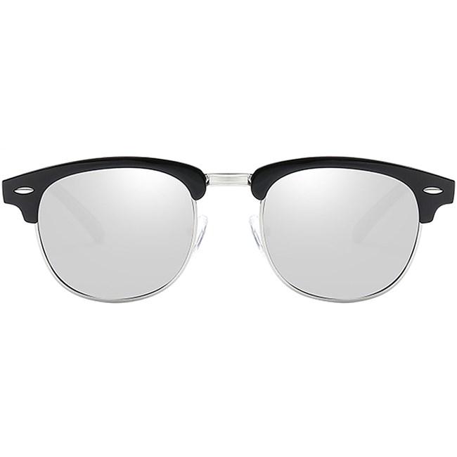Clubmaster zonnebril spiegelglazen - Zilver