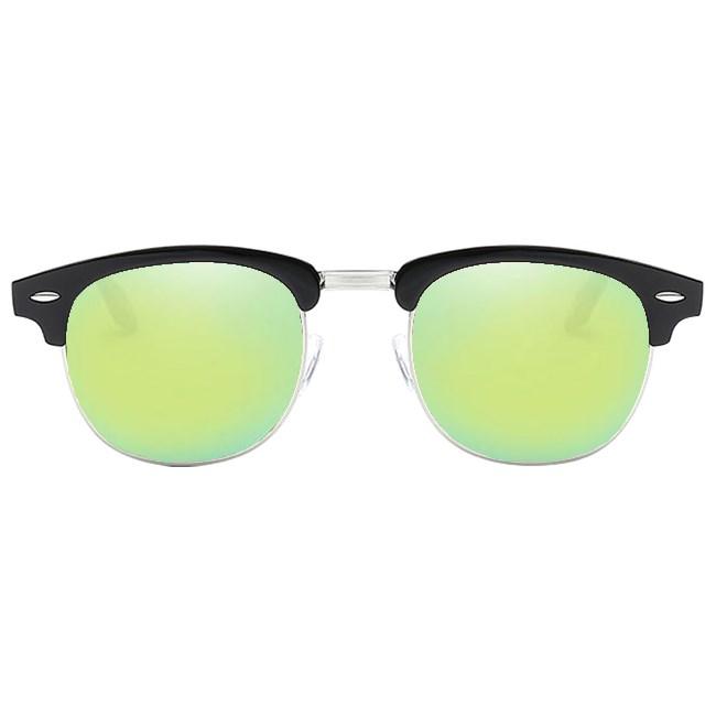 Clubmaster zonnebril spiegelglazen - Geel/Groen