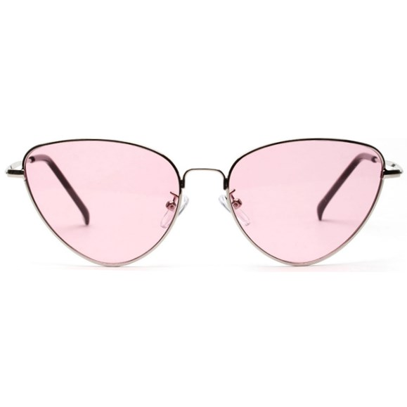 "Cat eye zonnebril ""Edna"" - Roze"