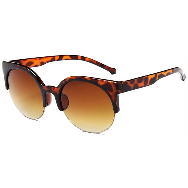 Retro half frame cat eye zonnebril - Leopard