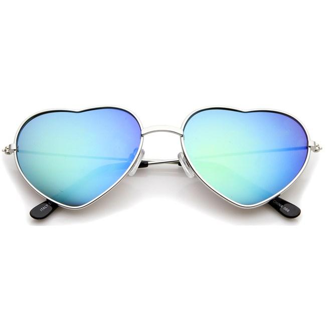 Hartjes zonnebril - Blauw spiegelglazen