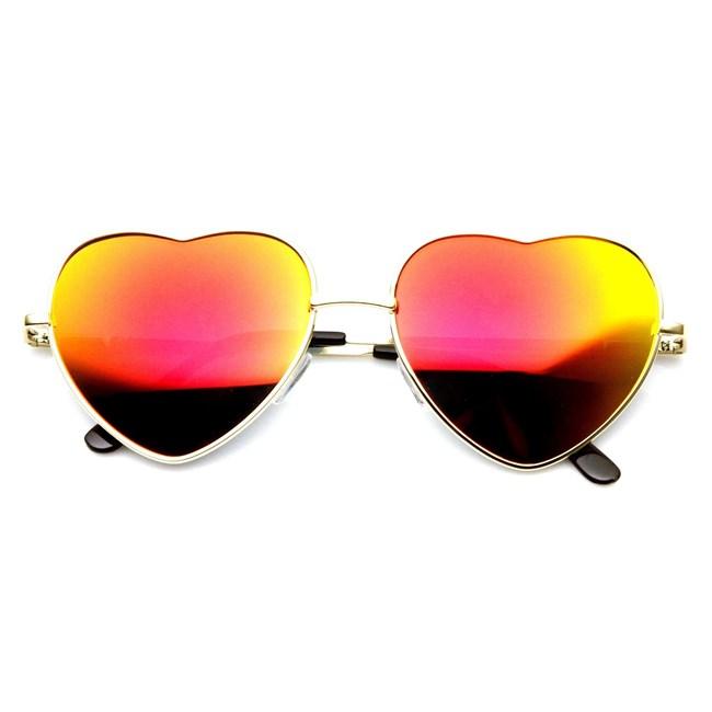 Hartjes zonnebril - Oranje spiegelglazen