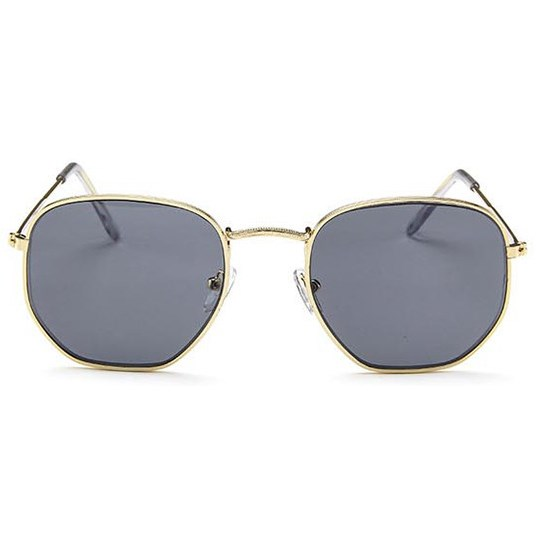 Hexagonal flat zonnebril - Grijs