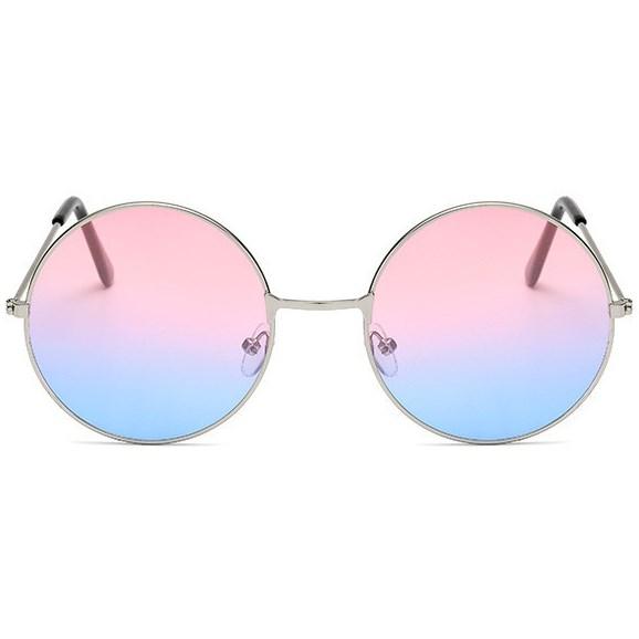 Hippie zonnebril - Roze/Blauw