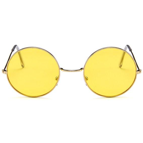 Hippie zonnebril - Geel