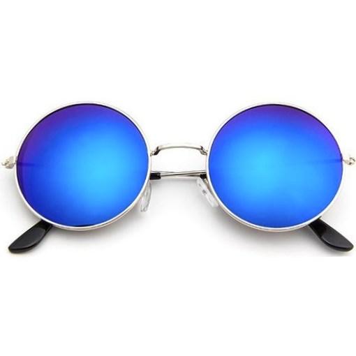 55d3d798edd22e Ronde zonnebril spiegelglazen - Blauw - Alle zonnebrillen - Ronde ...