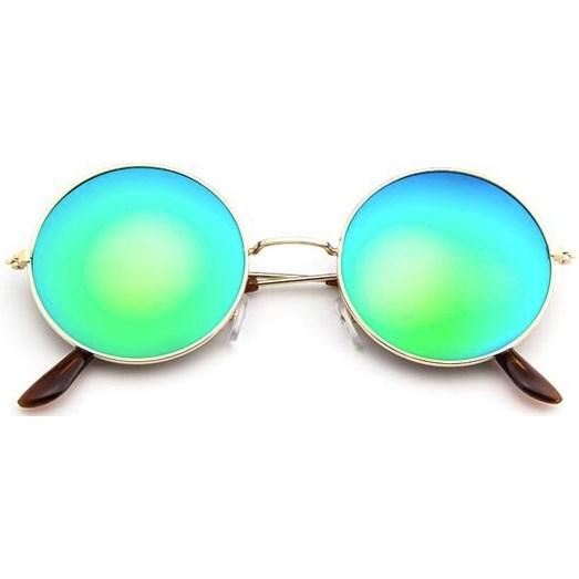 Ronde zonnebril spiegelglazen - Blauw/Groen