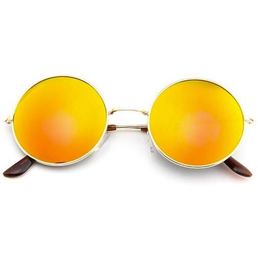 685bb4319c0162 Ronde zonnebril spiegelglazen - Oranje - Alle zonnebrillen - Ronde ...