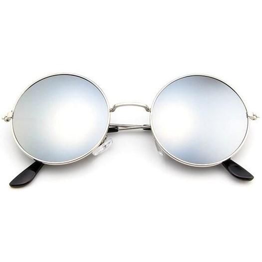 Ronde zonnebril spiegelglazen - Zilver