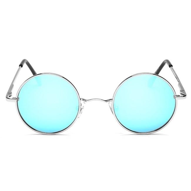 John Lennon ronde zonnebril - Blauw Gepolariseerd