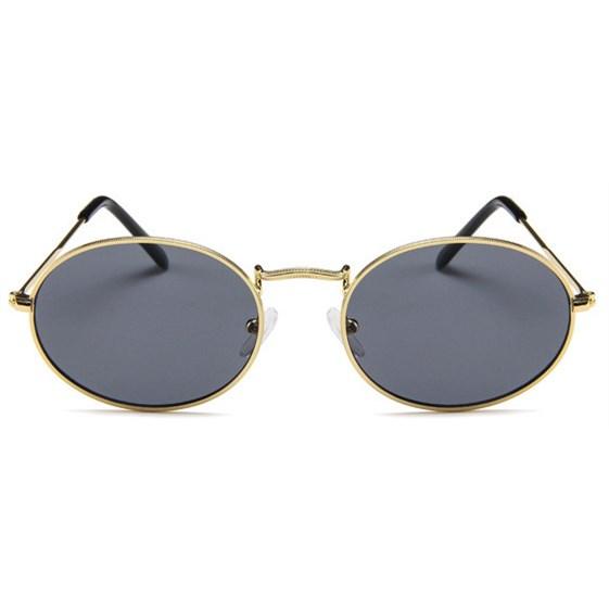 Oval flat lenses zonnebril - Grijs